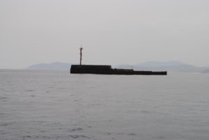 Bilbao, Port side entrance, start of sunken breakwater.