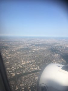 On our way home - Paris from the air.