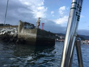 Leaving Bermeo.