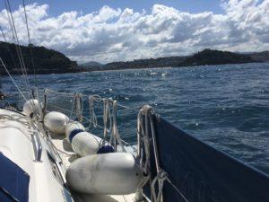 Approaching San Sebastian